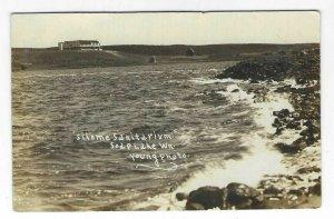1911 Silome Sanitarium, Soap Lake, Washington State RPPC Postcard
