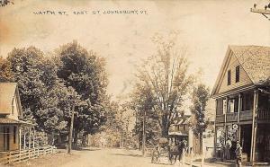 East St Johnsbury VT Water Street Post Office Storefront Horse & Wagon RPPC