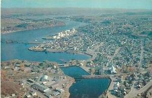 Air View of Chicoutimi, PQ Quebec Canada 1966 Chrome