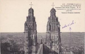 La Cathedrale St-Gatien, Sommet Des Deux Tours, Tours (Indre-et-Loire), Franc...