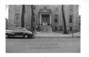 F15/ Portage Wisconsin RPPC Postcard c1950s Columbia County Court House