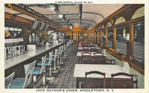 Middletown NY Jack Gaynor's Diner Postcard