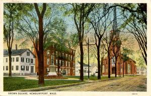 MA - Newburyport. Brown Square