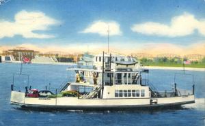 Ferry Agoming near Soo Locks - Sault Ste Marie MI, Michigan - pm 1956