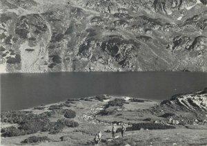 Postcard Poland High Tatras Wielki Staw in the Valley of Polish Ponds