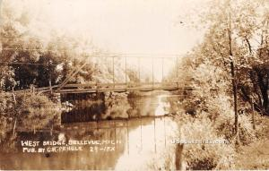 West Bridge Bellevue MI Postal Used Unknown