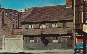 The Paul Revere House In North Square The Oldest Frame Building In Boston Mas...