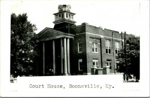 Vtg Postcard RPPC 1940s Booneville Kentucky KY County Courthouse Burned Down
