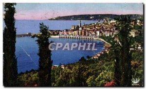 Old Postcard Menton and Cap Martin Vue Prize De Garavan