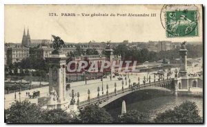 Old Postcard General view of the Paris Pont Alexandre III
