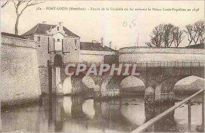 Old Postcard Port Louis Morbihan Entree Citadel or locks as Prince Louis Napo...