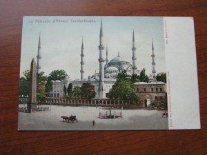 Turkey Postcard 1900-06 UDB Unused Constantinople Mosque d'Ahmed