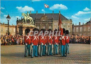 Postcard Modern Copenhagen Releve of the Guard Corps Army