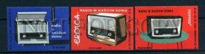 500628 POLAND ADVERTISING radios Vintage match label