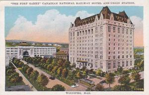 The Fort Garry Canadian National Railway Hotel and Union Station, Winnipeg,...