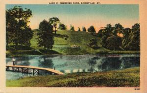 Postcard Lake in Cherokee Park Louisville Kentucky