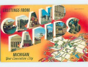 Pre-1980 BIG LETTERS Grand Rapids Michigan MI ho6919