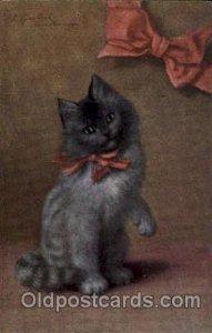 Series 242 Artist Sperlich Cats Unused pin hole top near top edge, minor corn...