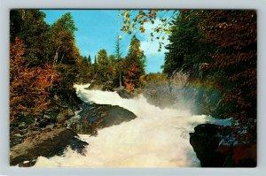 Ontario- Canada, Algonquin Provincial Park, Ragged Falls, Chrome Postcard