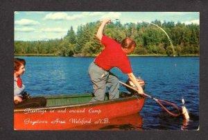 NB Camp Gagetown Canoe Fishing Welsford New Brunswick Carte Postale Postcard