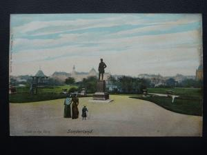 SUNDERLAND View in the Park & Bandstand c1905 Postcard by The Wrench Series