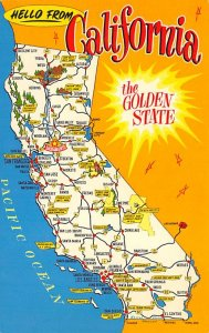 Maps California USA Unused