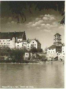 pc504 postcard Wasserburg a. Inn 1955 RPPC