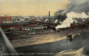 LP05 Youngstown  Ohio  Republic Iron Steel Works  Postcard