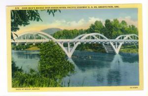 Cave Man's Bridge over Rogue River, Pacific Highway US 99, Grants Pass, Oregon