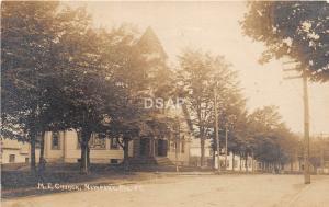 A45/ Newport Maine Me RPPC Real Photo Postcard c1910 M.E. Church