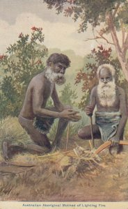 Aboriginal , Australia , 1900-10s ; Way of Making Fire