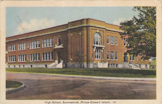 Canada Summerside High School Prince Edward Island 1941