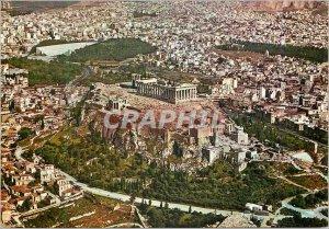 Postcard Modern Athens panoramic view of the Acropolis