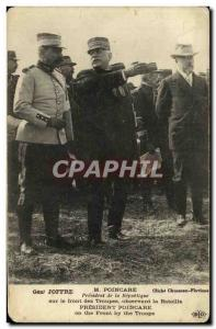 Postcard Former President of the Republic Poincare Joffre Army