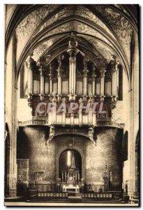Postcard Old Cathedral Organ d & # 39Albi L & # parish 39autel The great organ