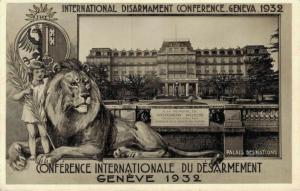 Switzerland International disarmament conference geneva 1932 02.94