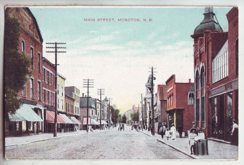 P922 old card main street moncton new brunswick canada