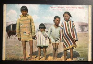 Mint Alaska USA Color Picture Postcard Eskimo Children Nome Beach