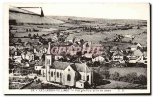 VALDAHON Village Old Postcard General view taken by plane