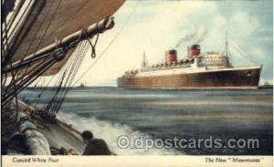 R.M.S. Mauretania Cunard White Star Line Ship, Ships, Postcard Postcards  R.M...