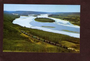 AB Northern Alberta Peace River Valley Railroad Train Carte Postale NAR Canada