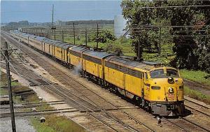 Hiawatha Railroad Train Streamliner Milwaukee Road postcard