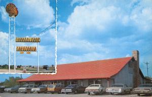 Abbott TX~Turkey Shop Cafeteria~Telephone Booth Under Big Bird Sign~1960s Cars