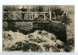 143880 Finland LANGINKOSKI rapid Kotka Vintage postcard