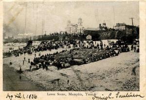 TN - Memphis. Levee Scene