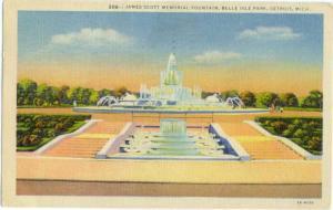 Linen of James Scott Memorial Fountain Detroit Michigan MI