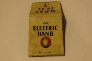 What Is It? The Electric Hand Advertising 20 Strike Matchbook Cover