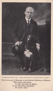 Maine Governor Percival P Baxter and His Irish Setter Garry