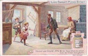 Liebig Vintage Trade Card S479 Hansel & Gretel No 6 Mit der Hexe Schatz besch...