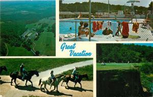 Siloam Springs, Arkansas, AR, Dawn Hill Country Club, Chrome Vtg Postcard a1039